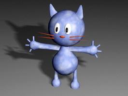 Blue Cartoon Cat 3d preview