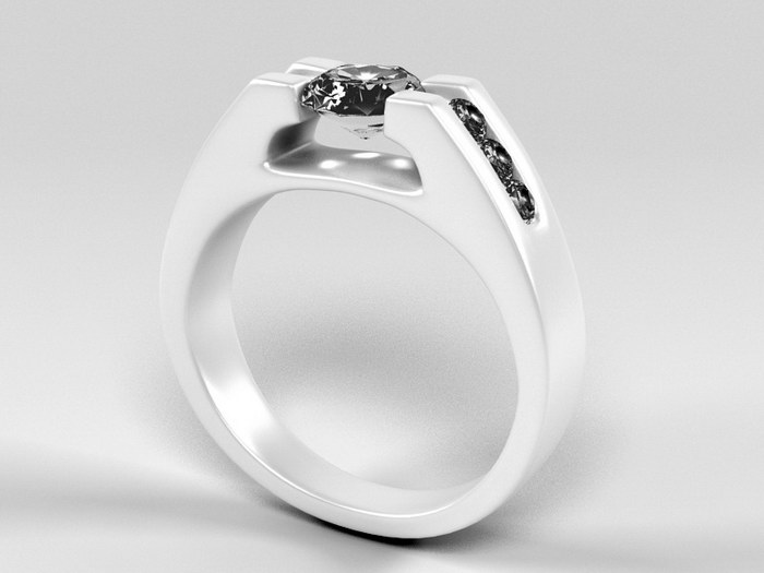 Pretty Promise Ring 3d rendering
