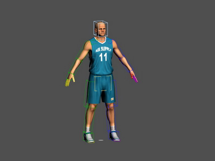 Basketball Player Rig 3d rendering