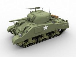 M4A3(75)W Medium Tank 3d preview