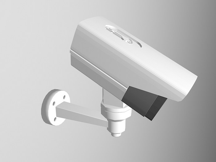 Wall Mount CCTV Camera 3d rendering