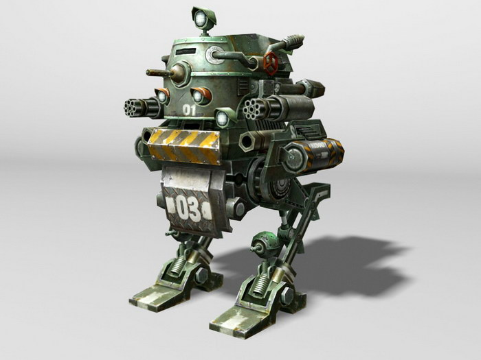Military Future War Robot 3d rendering