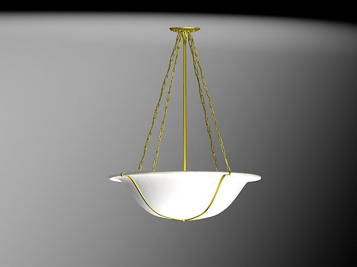 Art Deco Pendant Light 3d rendering