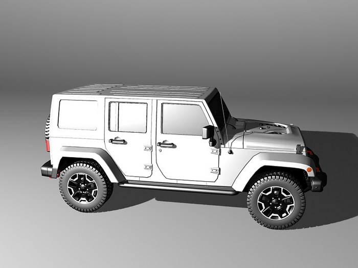 Jeep Wrangler Unlimited 3d rendering