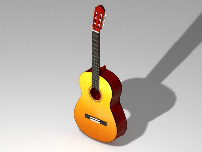 Country Guitar 3d rendering