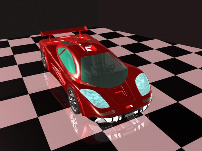 Cool Supercar 3d rendering