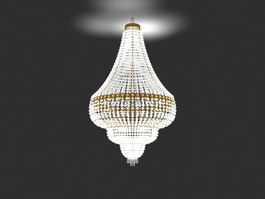 Fancy Crystal Chandelier 3d preview