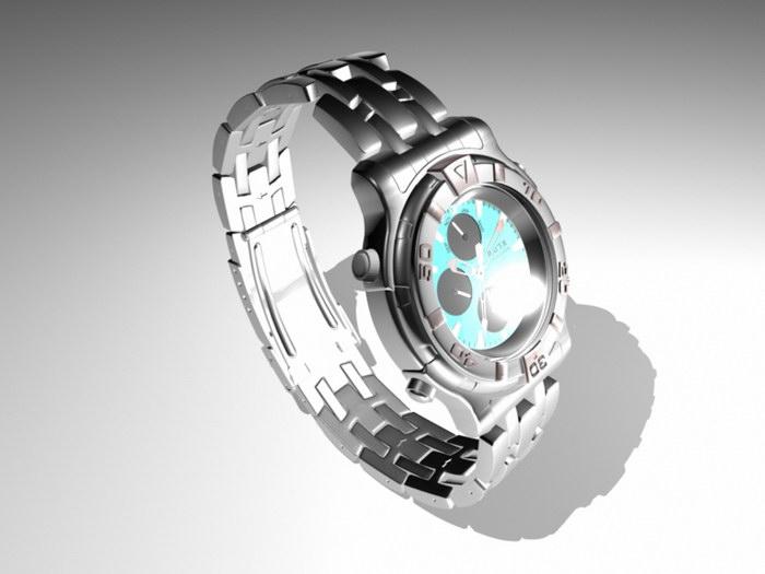 Men's Watch 3d rendering
