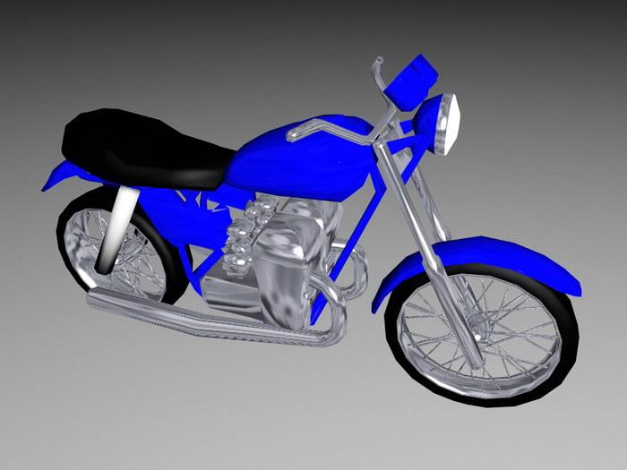 Vintage Motorcycle 3d rendering
