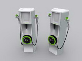 Electric Vehicle Charging Station 3d preview