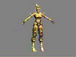 Ancient Egyptian Female Soldier Rig 3d preview