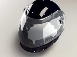 Black Motorcycle Helmet 3d preview