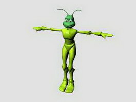 Humanoid Ant Rig 3d preview
