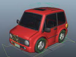 Red Smart Car Rig 3d preview
