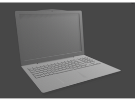 Slim Laptop 3d preview