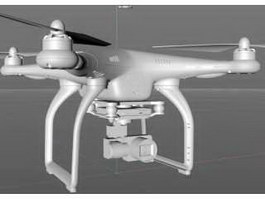Phantom Professional Drone 3d model