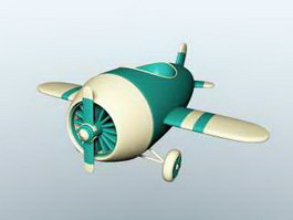 Cute Cartoon Plane 3d preview