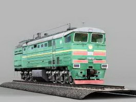 Diesel Locomotive 3d preview