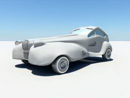 Vintage Concept Car 3d model