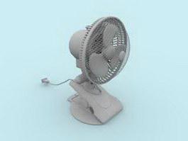 Clip Table Fan 3d model