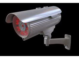 Infrared CCTV Camera 3d preview