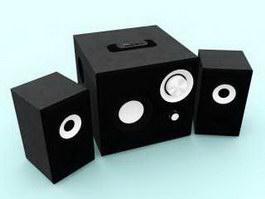 Desktop Speakers 3d model preview