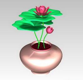 Lotus flower 3d preview