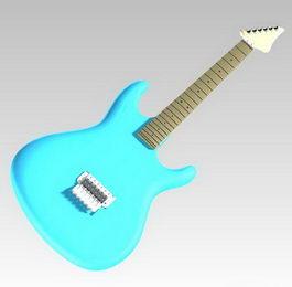 Guitar model 3d model preview