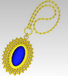 Beautiful diamond necklace 3d preview