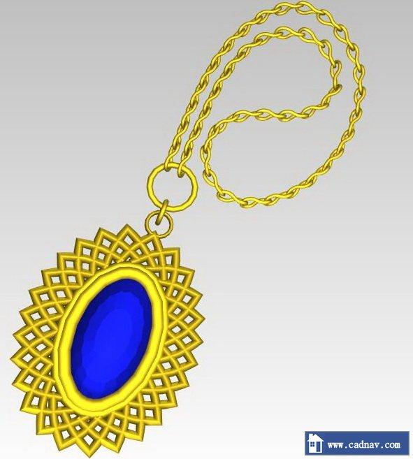 Beautiful diamond necklace 3d rendering