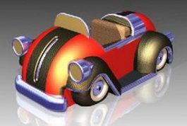 Cartoon car 3d model preview
