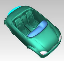 Car shell 3d preview