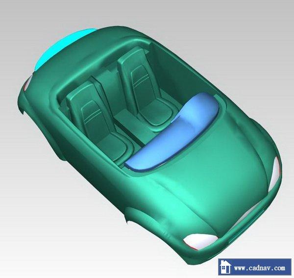 Car shell 3d rendering