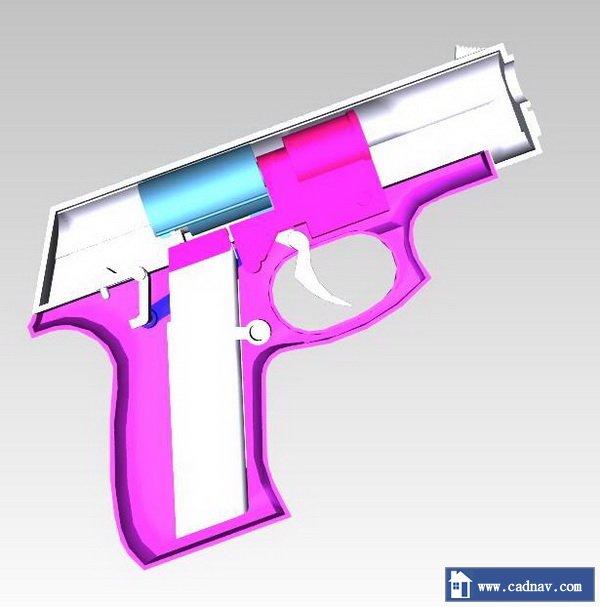 Cap gun 3d rendering