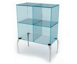 Glass display cabinet showcase 3d model preview