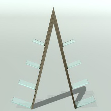 Wooden Display Rack 3d preview