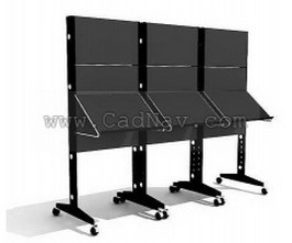 Metal display rack magazine rack 3d model preview