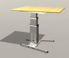 Display table(square) 3d preview