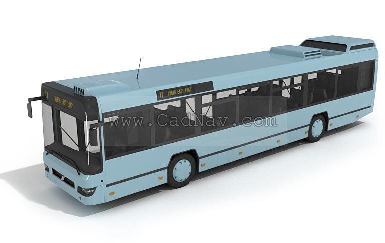 Bus 3d rendering
