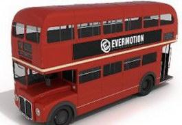 Double-decker bus 3d preview