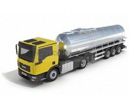 Oil tank truck 3d model preview