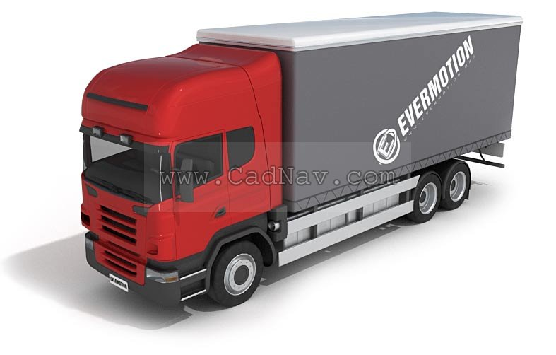 Container trucks 3d rendering