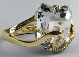 Diamond ring 3d preview