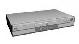 Panasonic DVD video recorder 3d model preview