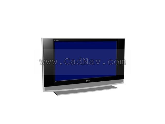 LG LCD 3d rendering