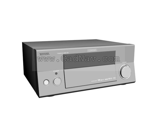 Yamaha home cinema DSP 3d rendering
