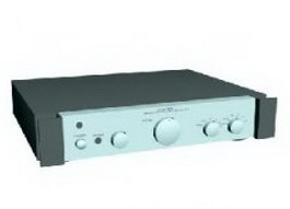 Rotel stero control amplifier 3d model preview