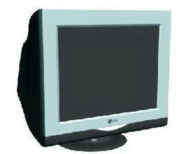 LG PC monitor 3d model preview