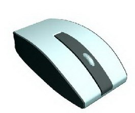 USB mouse 3d model preview