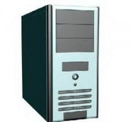 Computer machine box 3d preview